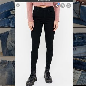 Black BDG high rise twig jeans